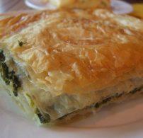 feta sajt, görög, olajbogyó, spanakopita, spenót
