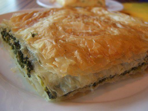 Görög spenótos rétes, Kép: wikimedia.org