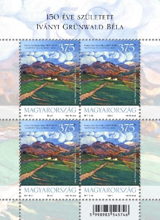 Iványi Grünwald Béla festménye bélyegen, Kép: Magyar Posta