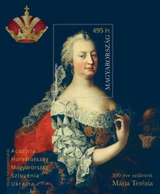 Mária Terézia bélyegblokk, Kép: Magyar Posta
