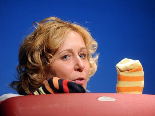 Majzik Edit a Shirley Valentine-ben, Kép: Máthé András