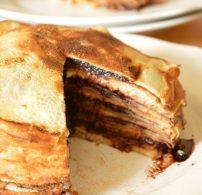 dió, mák, nutella, palacsinta, torta