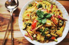 bab, kukorica, quinoa, saláta