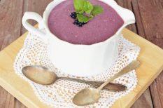 krémleves, leves, nyár, szeder, tejszín