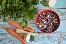 bab, hűtő, leves, leveszöldség, tartalék