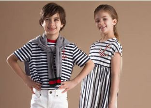 Csíkos gyerekruhák, Kép: luisaviaroma