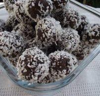 csokoládé, golyó, kókuszreszelék, mogyoró, narancs, nass, zabpehely