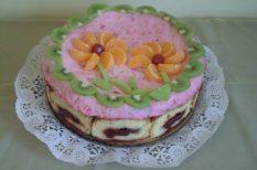 gyümölcstorta, mascarpone, meggy, piskóta, tejszín, torta, ünnepi