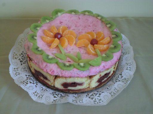 Mascarponés, gyümölcsös torta, Kép: Salamon Csilla
