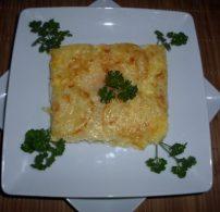 cukkini, egytál étel, rakott, sajt, tejföl