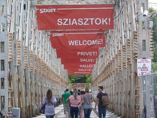 Sziget Fesztivál bejárata, kép: wikimedia