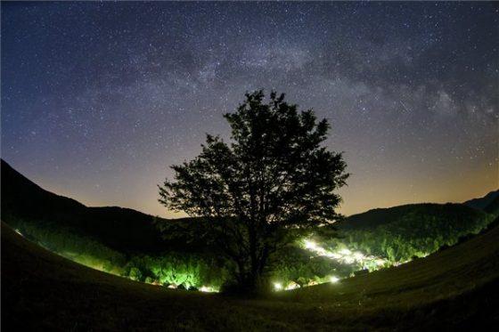 Tejút a Bükk-fennsík felett  MTI Fotó: Komka Péter