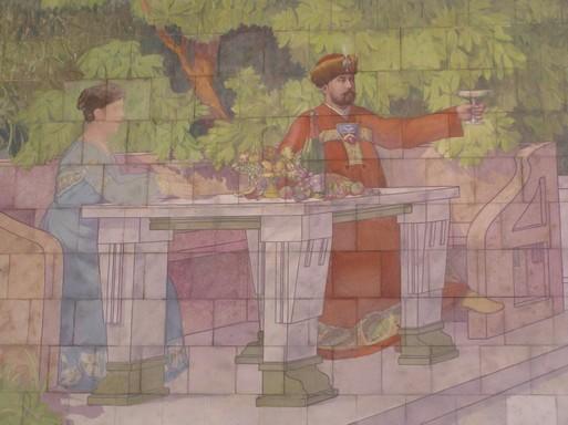 Zsolnay falikép a Törley Pezsdgőpincészetben, Kép: László Márta