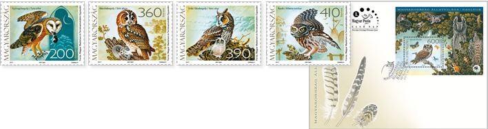 Baglyok, bélyegek, Kép: Magyar Posta
