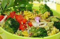 brokkoli, fussili, nyár, tészta