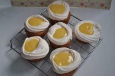 citrom, citromkrém, cupcake, lemon curd, muffin