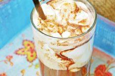 fagylalt, jeges kávé, kávé, nyár, vanília fagylalt