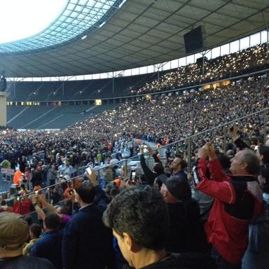 Közönség a berlini Olipiai Stadionban, Kép: László Márta
