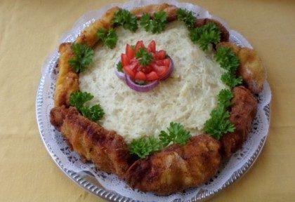 Rántott hús torta, Kép: Salamon Csilla