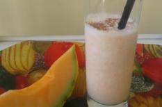 nyár, sárgadinnye, tej, turmix