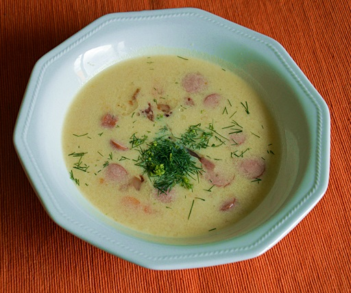 Tejfölös krumplileves, Kép: Kandikó Éva