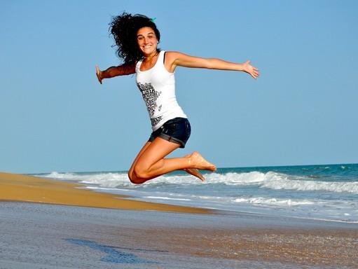 Ugrás a tengerparton, Kép: pixabay