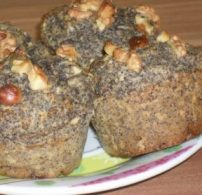 alma, diéta, mák, muffin