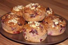 cukkini, meggy, muffin