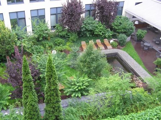 Belső kert Berlinben, Kép: László Márta
