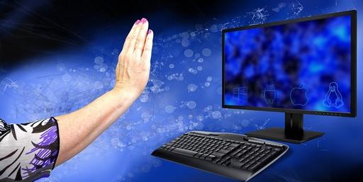 Internetet elutasító kéz, Kép: pixabay