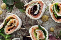 lapkenyér, marinált lazac, saláta, svéd recept