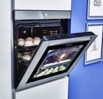 21. század, érintőajtós, konyhaberendezés, konyhagép, korszerű, modern, okossütő