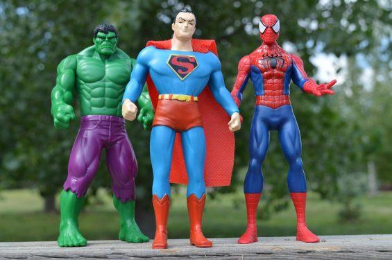 Hulk, Superman és a Pókember most együtt pózol Kép: Pixabay