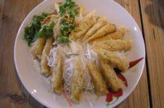 garnélarák, gyömbér, keleti ízek, koriander, Tavaszi tekercs, Vietnam