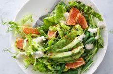 avokádó, lazac, saláta, svéd recept, tormás drersszing, zldbab