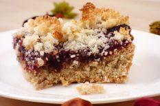 egészséges sütemény, kókuszliszt, szilva, szilvalekvár, zabpehely