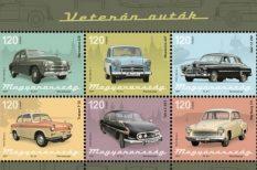 Magyar Posta, új bélyegek, veterán autók, Weisenburger István grafikus