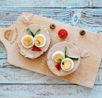 főtt tojás, pulykasonka, szendvics