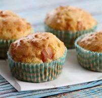 muffin, pulyka, sonka, tészta