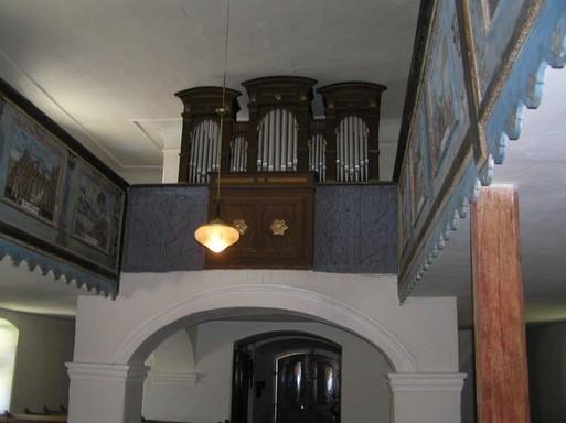 Bikácsi templom, orgona, Kép: László Márta