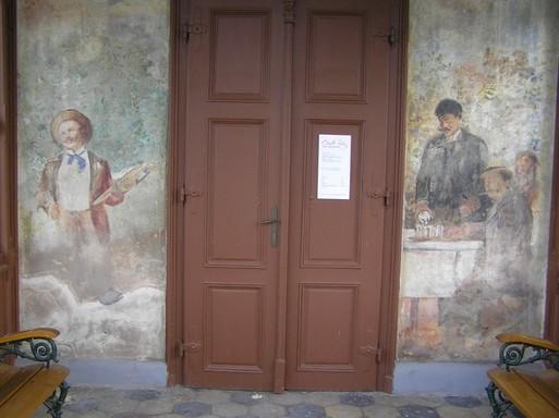 Csók-freskó, Kép: László Márta