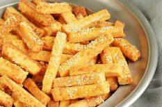 parmezán, ropogtatni való, sajtos, sós