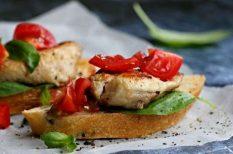 bruschetta, pulykahús, szendvics, vendégváró