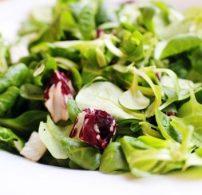 madár saláta, radicchio, saláta, vinaigrette