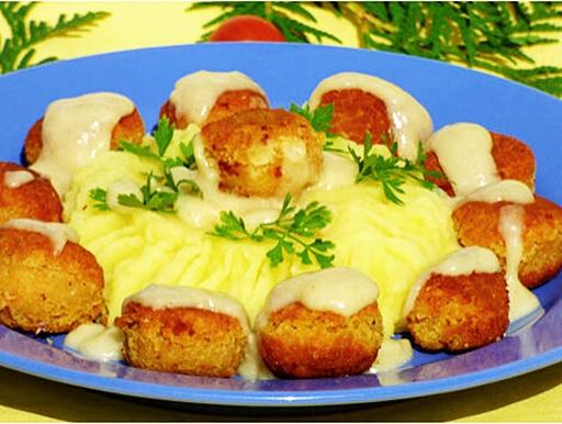 Vegán svéd húsgolyók, Kép: bulkshop.hu