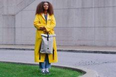 bőrdzseki, divat, esernyő, gumicsizma, kiegészítők, ősz, sál
