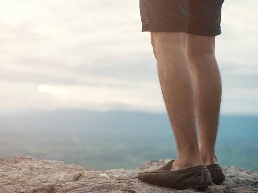 Férfi láb, Kép: pexels