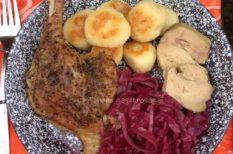 burgonya, kacsa, kacscomb, libamáj, lilakáposzta, párolt káposzta, tél