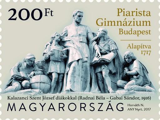Piarista bélyeg, Kép: Magyar Posta