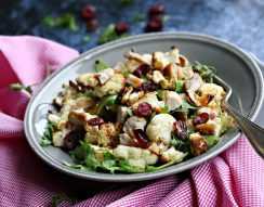 karfiol, őszi ínyencség, pulyka, saláta